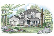 Country Exterior - Front Elevation Plan #1002-12