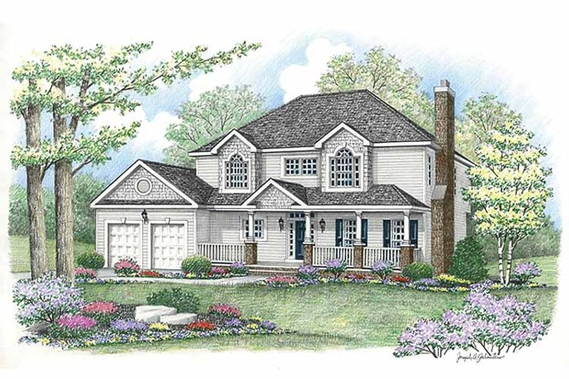 Country Exterior - Front Elevation Plan #1002-12 - Houseplans.com