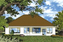 House Plan Design - Mediterranean Exterior - Rear Elevation Plan #417-831