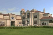 European Style House Plan - 5 Beds 5 Baths 13616 Sq/Ft Plan #119-303 Exterior - Front Elevation