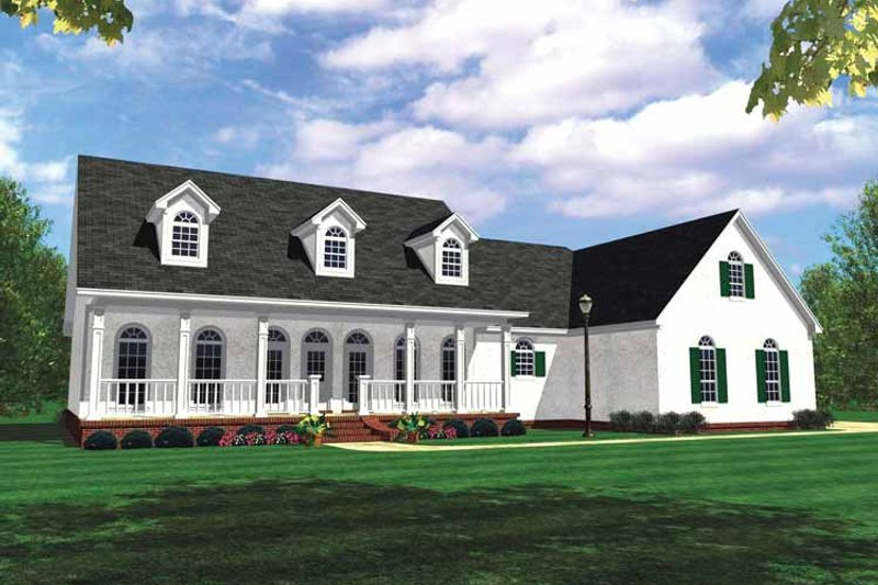 Country Exterior - Front Elevation Plan #21-417