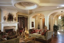 European Interior - Family Room Plan #453-609