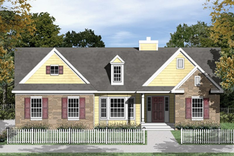 Country Exterior - Front Elevation Plan #1053-33