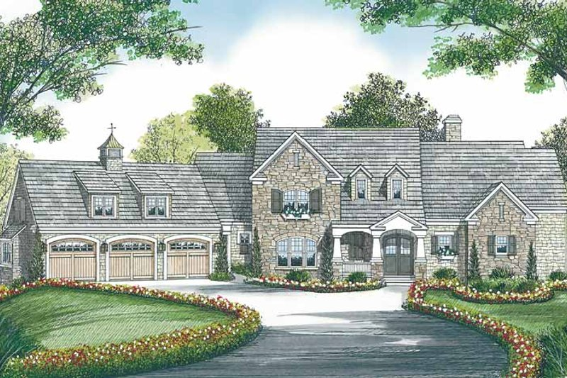 Craftsman Exterior - Front Elevation Plan #453-455