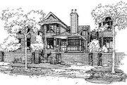 Traditional Style House Plan - 4 Beds 2.5 Baths 1984 Sq/Ft Plan #50-227 Exterior - Front Elevation