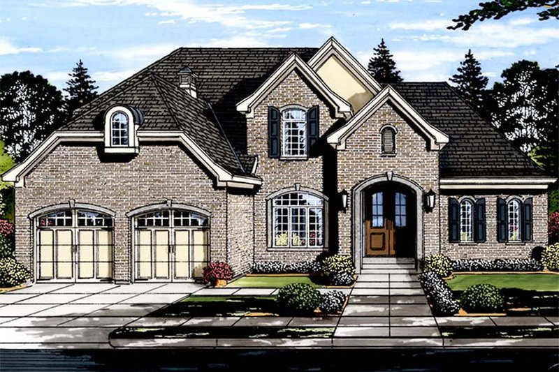 Architectural House Design - Traditional Exterior - Front Elevation Plan #46-863