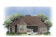 House Plan Design - Cottage Exterior - Rear Elevation Plan #929-854
