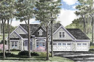 Architectural House Design - Craftsman Exterior - Front Elevation Plan #316-261