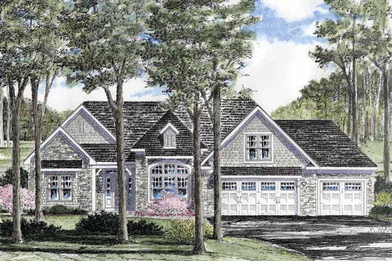 Architectural House Design - Craftsman Exterior - Front Elevation Plan #316-261