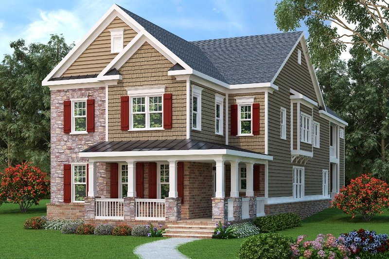 Home Plan - Traditional Exterior - Front Elevation Plan #419-316