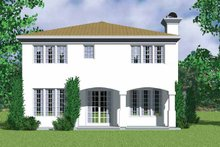 Home Plan - Mediterranean Exterior - Rear Elevation Plan #72-1123