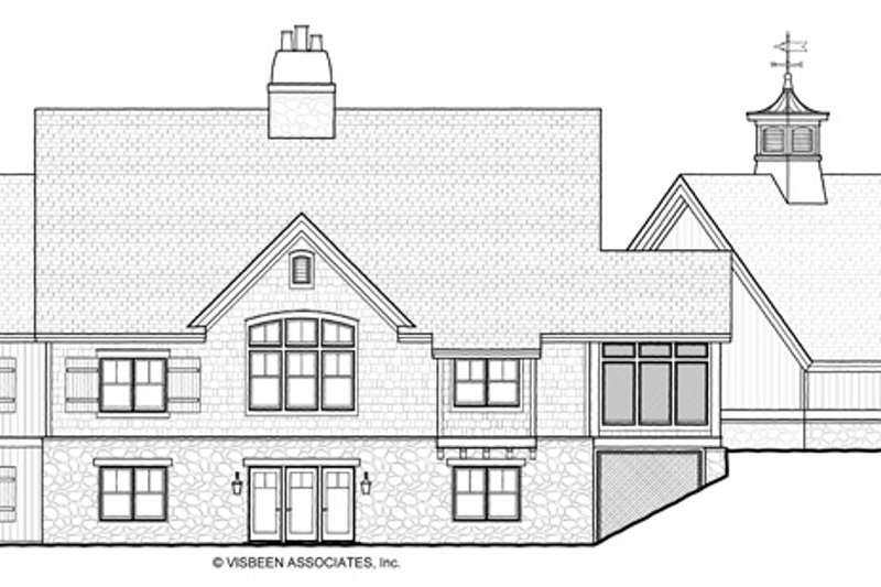 European Exterior - Rear Elevation Plan #928-20 - Houseplans.com