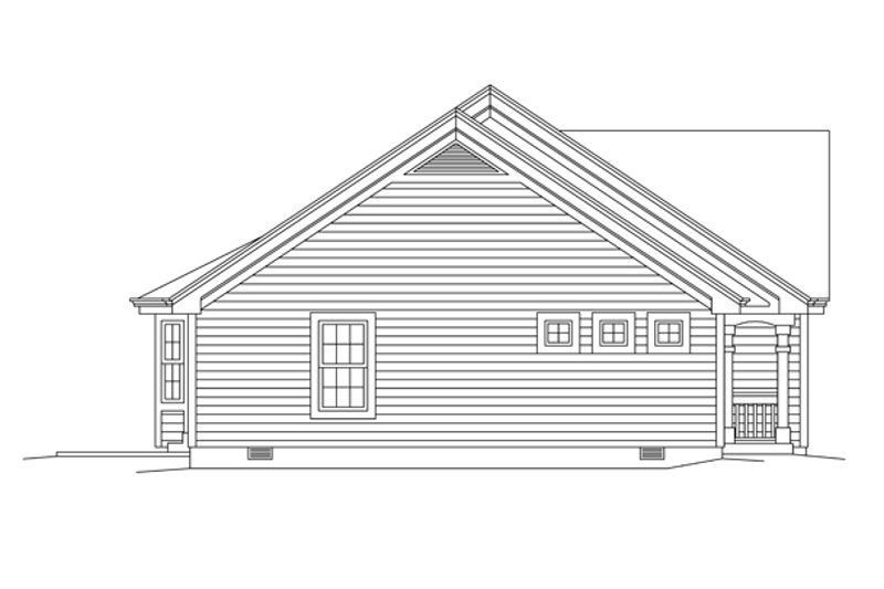 Colonial Exterior - Other Elevation Plan #57-636 - Houseplans.com