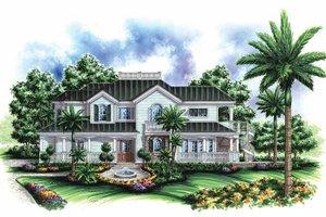 Home Plan Design - Southern Exterior - Front Elevation Plan #1017-53