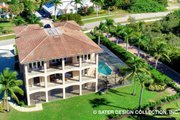 European Style House Plan - 4 Beds 4.5 Baths 5045 Sq/Ft Plan #930-505 Exterior - Rear Elevation