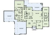 European Style House Plan - 3 Beds 3.5 Baths 4076 Sq/Ft Plan #17-2491 Floor Plan - Main Floor Plan
