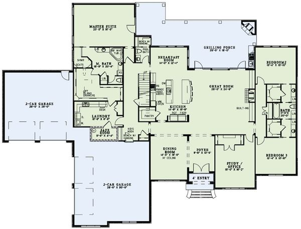 European Floor Plan - Main Floor Plan Plan #17-2491