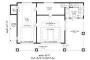 Contemporary Style House Plan - 2 Beds 2 Baths 1850 Sq/Ft Plan #932-217 Floor Plan - Main Floor