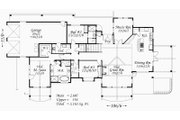 Craftsman Style House Plan - 3 Beds 3 Baths 3163 Sq/Ft Plan #509-4 Floor Plan - Main Floor Plan
