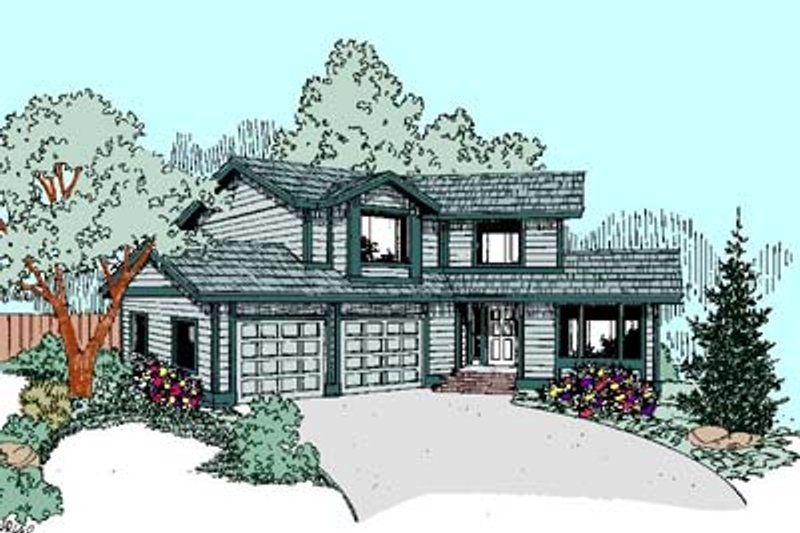 Traditional Exterior - Front Elevation Plan #60-449 - Houseplans.com