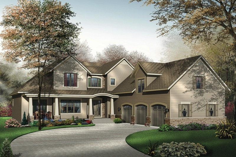 Traditional Exterior - Front Elevation Plan #23-400 - Houseplans.com