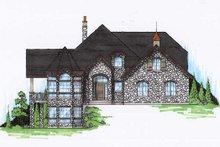 House Plan Design - European Exterior - Front Elevation Plan #5-406