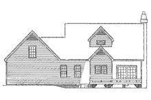 Farmhouse Exterior - Rear Elevation Plan #929-39