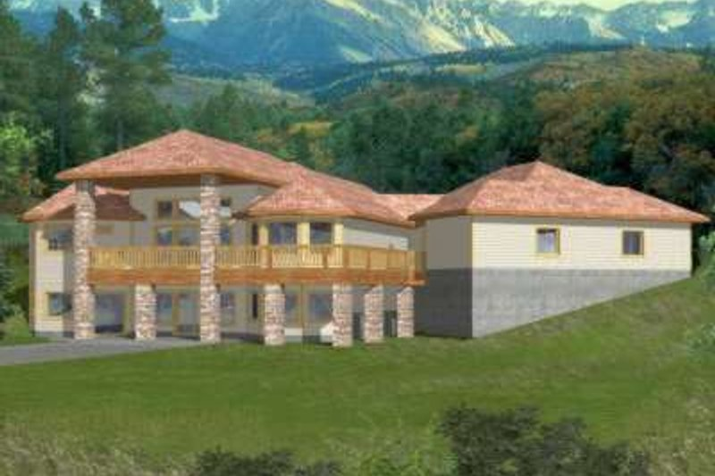 Modern Exterior - Front Elevation Plan #117-425 - Houseplans.com