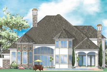House Plan Design - Mediterranean Exterior - Rear Elevation Plan #930-267
