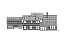 Country Exterior - Rear Elevation Plan #84-437