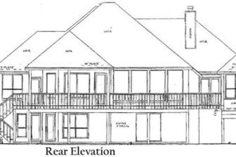 Traditional Exterior - Rear Elevation Plan #52-148 - Houseplans.com