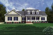 Country Style House Plan - 3 Beds 3 Baths 1800 Sq/Ft Plan #21-151 Exterior - Front Elevation