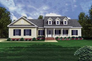 Country Exterior - Front Elevation Plan #21-151
