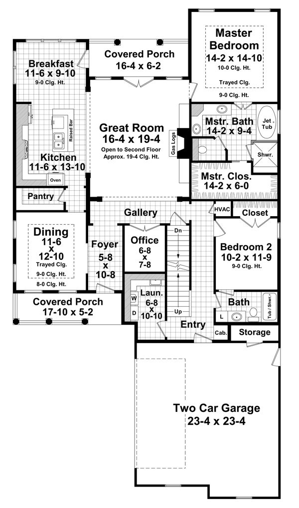 Farmhouse Floor Plan - Main Floor Plan Plan #21-331