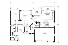 Contemporary Floor Plan - Main Floor Plan Plan #56-601