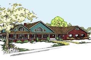 Craftsman Exterior - Front Elevation Plan #60-298