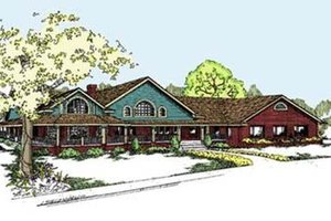 Architectural House Design - Craftsman Exterior - Front Elevation Plan #60-298