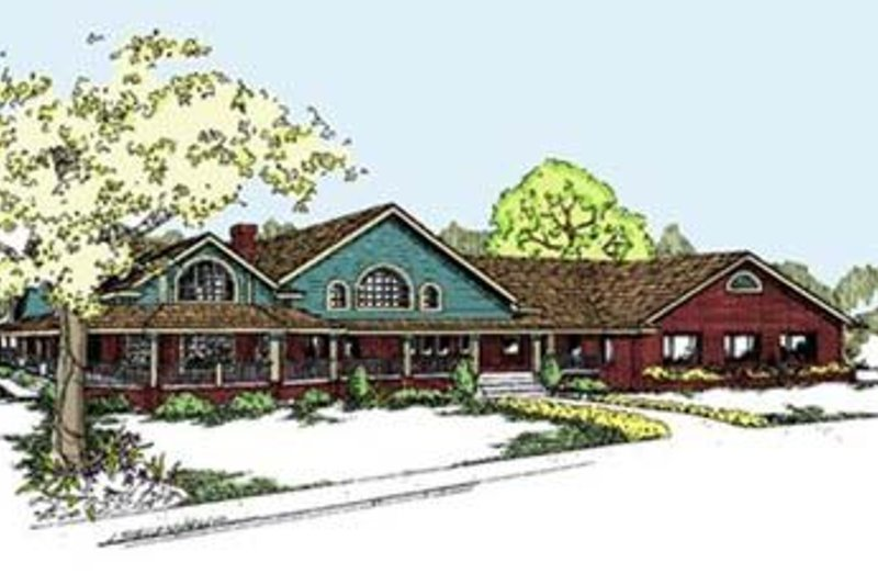 Craftsman Exterior - Front Elevation Plan #60-298 - Houseplans.com