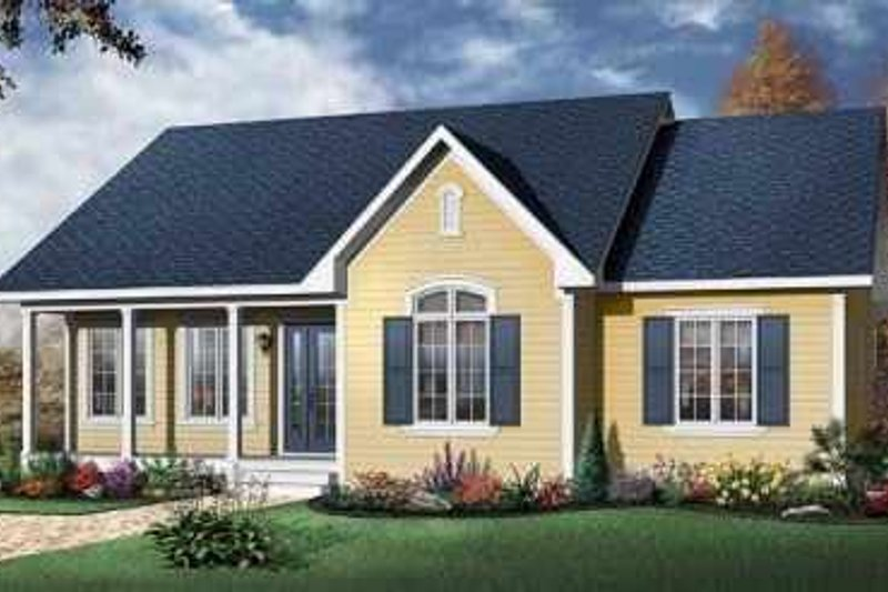 Traditional Exterior - Front Elevation Plan #23-393 - Houseplans.com