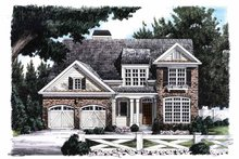 Country Exterior - Front Elevation Plan #927-667