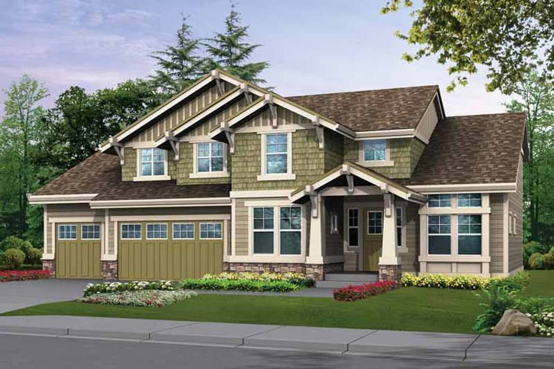 Craftsman Exterior - Front Elevation Plan #132-304