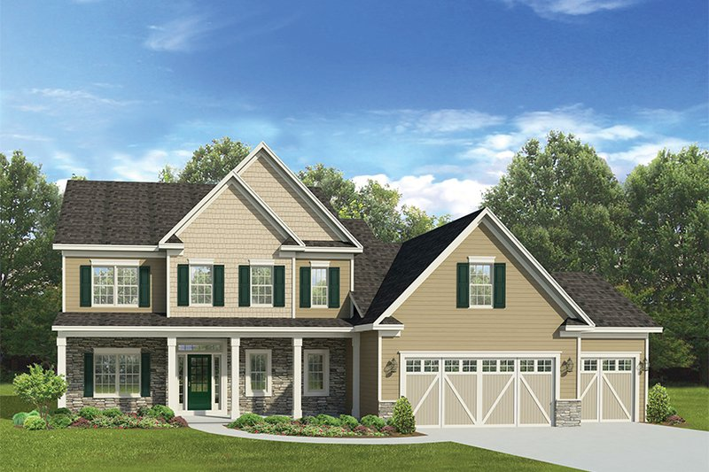 Traditional Exterior - Front Elevation Plan #1010-135 - Houseplans.com
