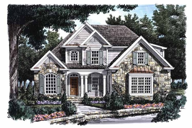 Country Exterior - Front Elevation Plan #927-726