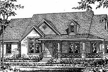 Country Exterior - Front Elevation Plan #472-260
