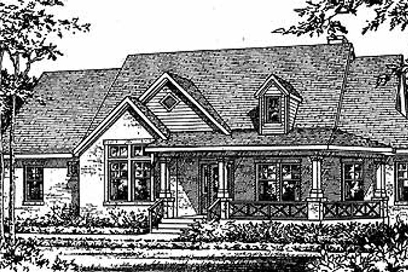 Country Exterior - Front Elevation Plan #472-260 - Houseplans.com