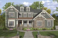 Dream House Plan - Traditional Exterior - Front Elevation Plan #56-680