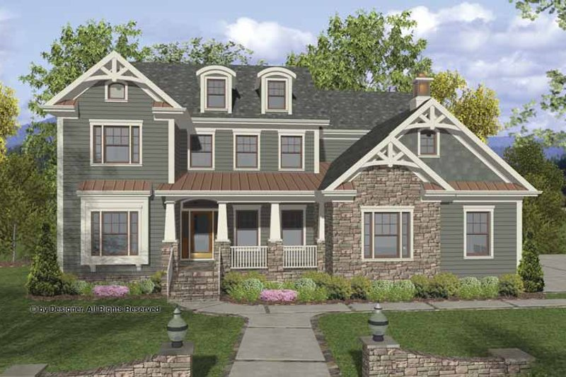 Home Plan - Traditional Exterior - Front Elevation Plan #56-680