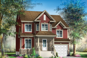 Traditional Style House Plan - 3 Beds 1 Baths 1661 Sq/Ft Plan #25-4697 Exterior - Front Elevation