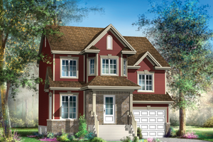 Traditional Exterior - Front Elevation Plan #25-4697