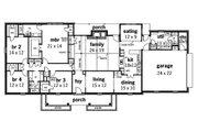 Ranch Style House Plan - 4 Beds 2.5 Baths 2719 Sq/Ft Plan #45-153 Floor Plan - Main Floor Plan